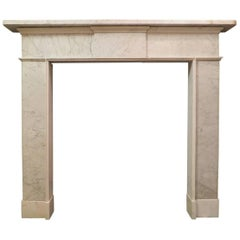 Irish Late 18th Century Marble Fireplace Mantel