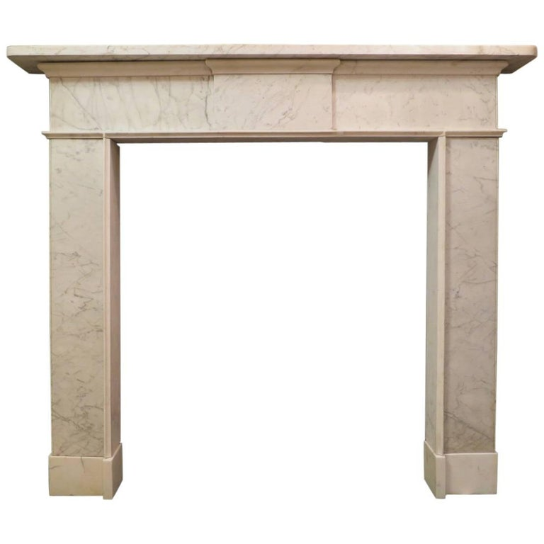 Irish Late 18th Century Marble Fireplace Mantel