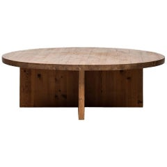 Large and Low Coffee Table in Pine Probably Produced in Sweden