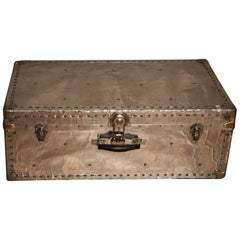 1940s Polished Aluminium Steamer Trunk