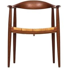 Hans Wegner Armchair Model Jh-501 / the Chair by Johannes Hansen in Denmark