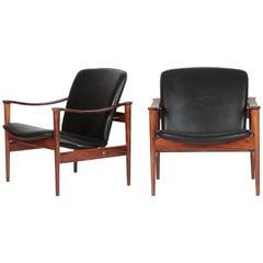 Fredrik A. Kayser Lounge Chair Model 711 Vatne Lenestolfabrik, 1960s