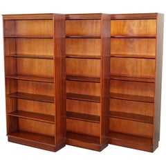 Set of Three Handmade in England Mahogany Beresford & Hicks Library Bookcases