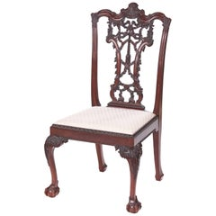 Outstanding Antique Carved Mahogany Desk Chair