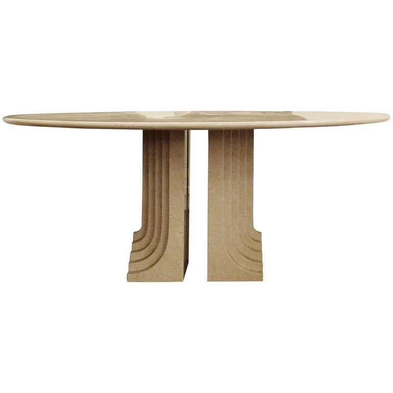 """Carlo Scarpa """"Samo"""" Table for Simon in Granite"""