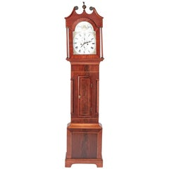 Antique Mahogany 8 Day Longcase Clock J N Tilbury Guensey