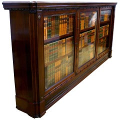 19th Century English Mahogany Glass Fronted Bookcase