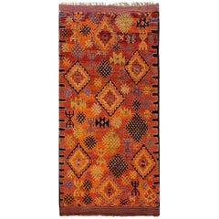 Vintage Orange Geometric Moroccan Carpet, 6.01x13