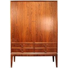 O. Bank Larsen Midcentury Rosewood Storage Cabinet
