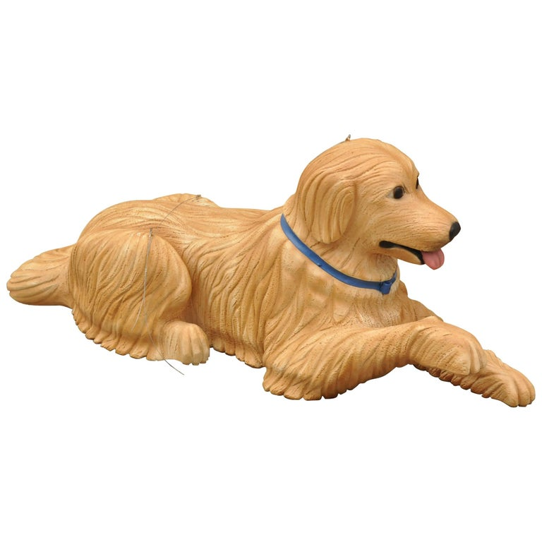 Large Oversize Fiberglass Labrador Retriever Dog Mannequin Retail Store Display For Sale
