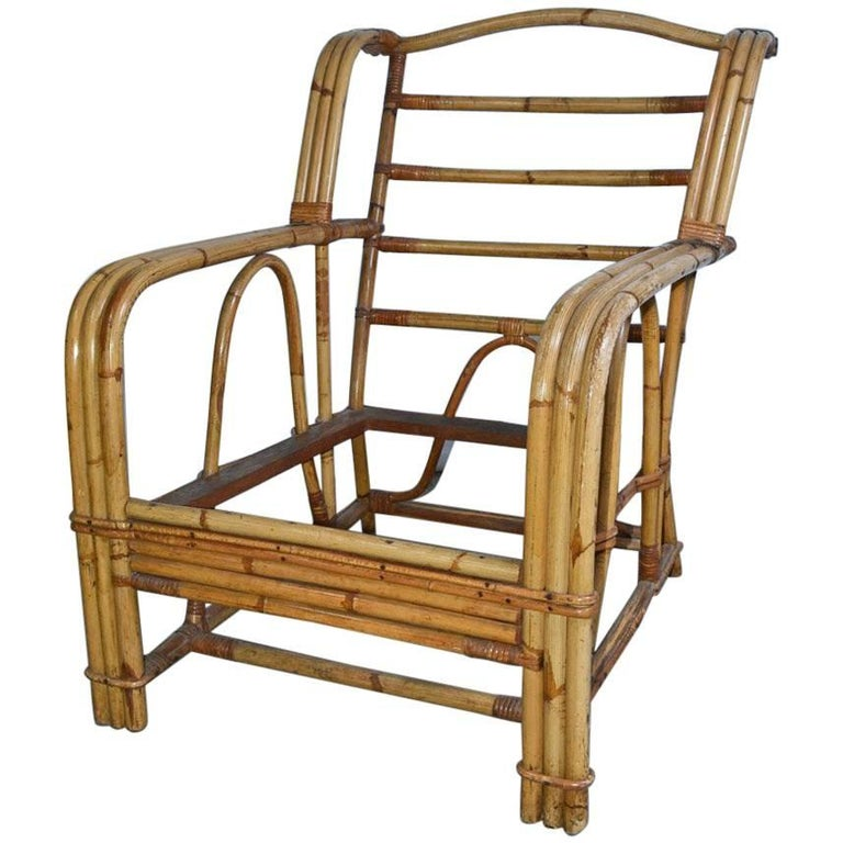 Bamboo Club Chair For Sale