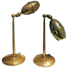 Pair of Table Lamps Oscar Torlasco Style, 1950s