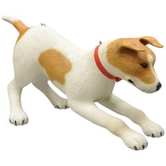"Vintage Large Fiberglass 55"" Jack Russell Terrier Dog Store Advertising Display"