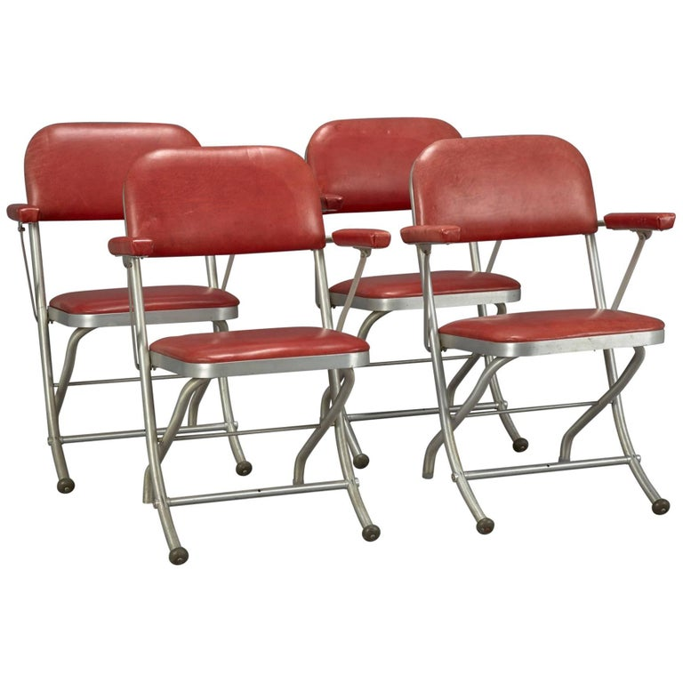 Art Deco Folding Chairs by Warren McArthur for Mayfair Industries