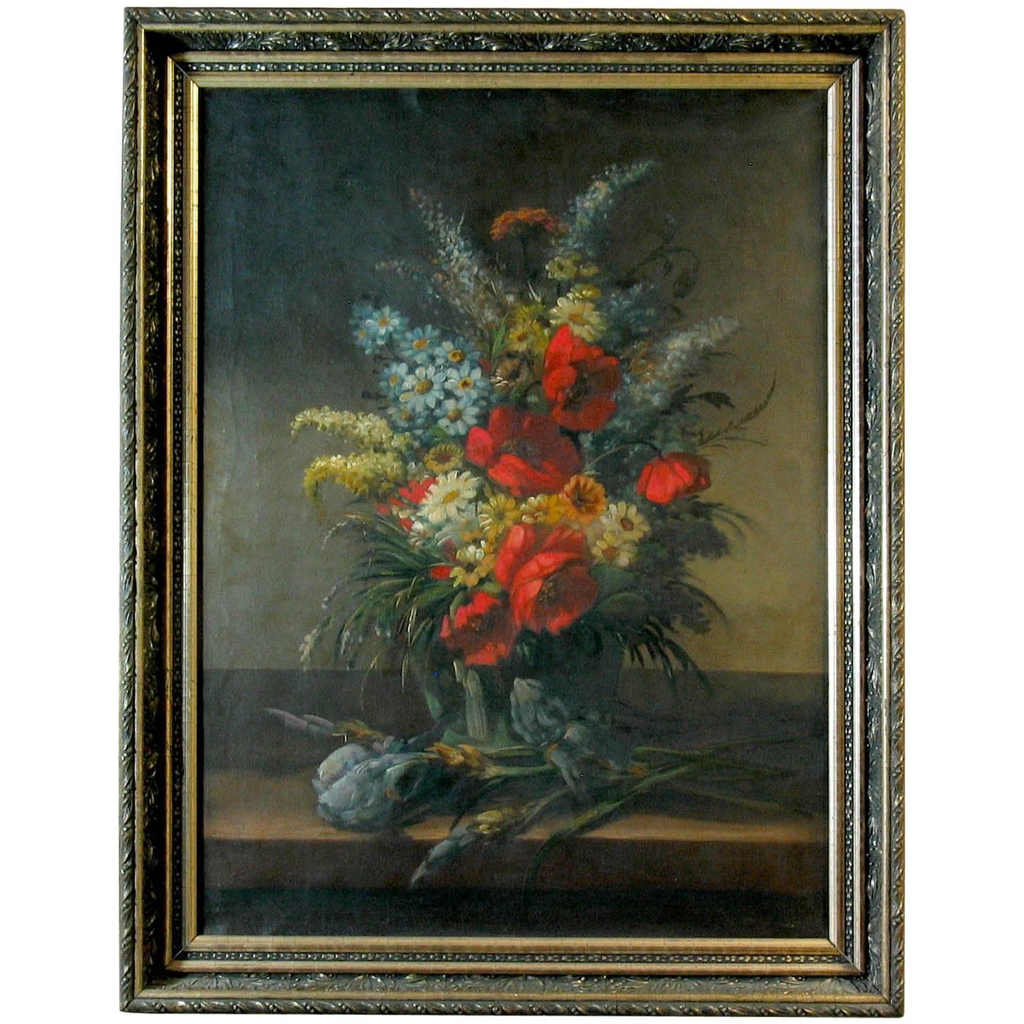 19th Century French School Still Life of Field Flowers