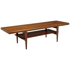 Danish Modern Rosewood Coffee Table with Shelf, Gern Møbelfabrik, Denmark
