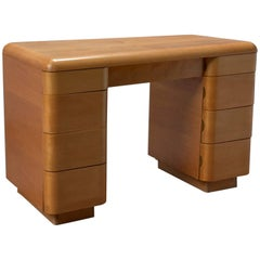 1940s Bentwood Mid-Century Modern Writing Desk by Paul Goldman for Plymold