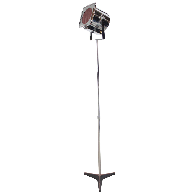 1960s Dutch Chrome Spotlight / Floor Lamp Attributed to RAAK
