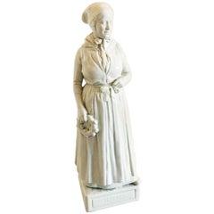 Royal Copenhagen Blanc de Chine Figurine of Refsnæs Woman #12166