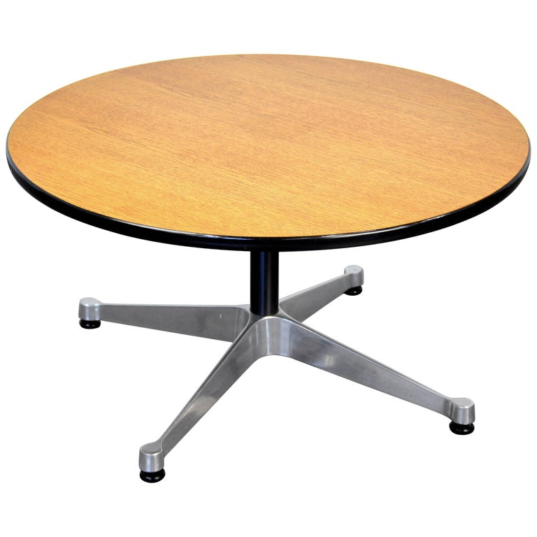 Eames Herman Miller Aluminum Group Round Occasional Table