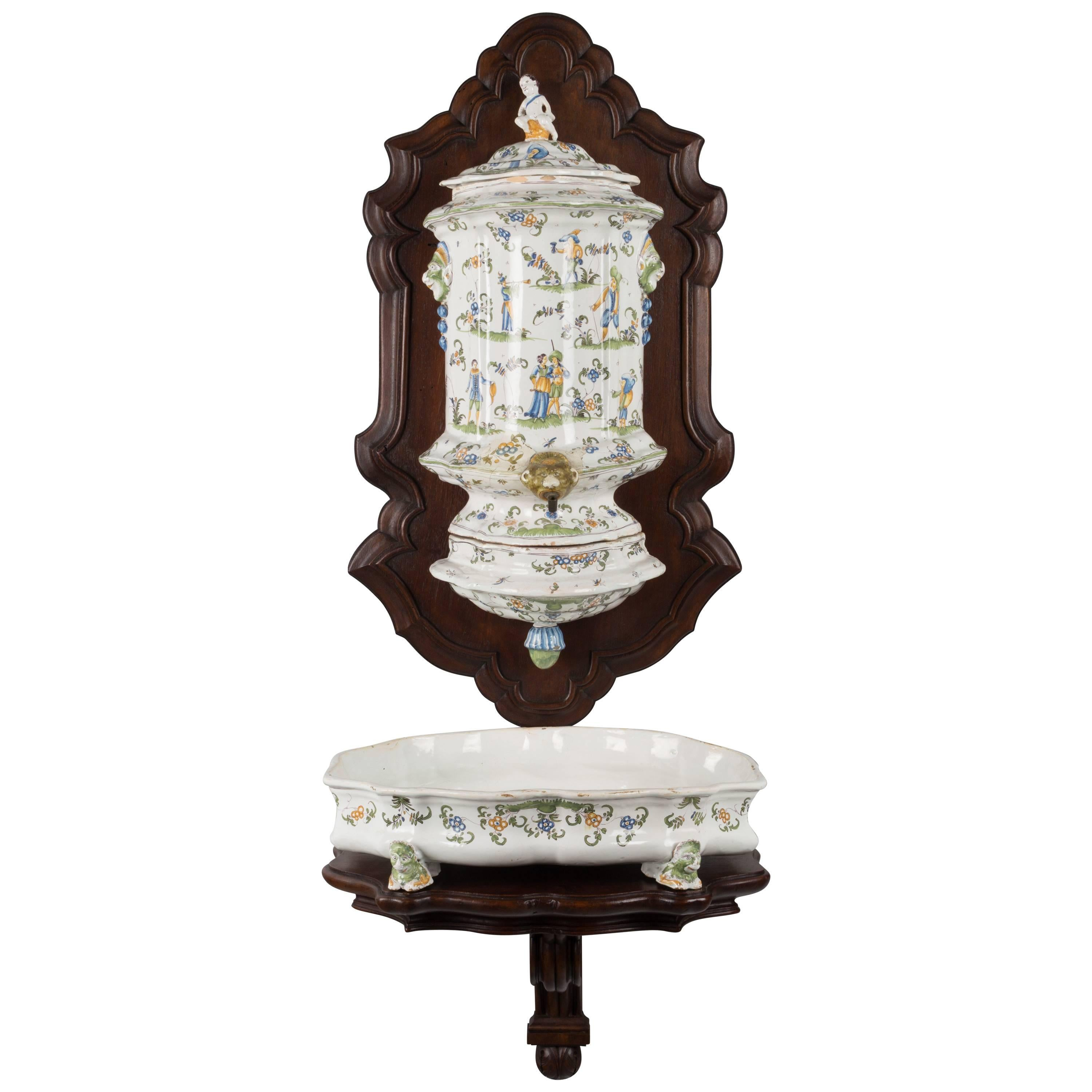 18th Century French Faience Lavabo from Moustiers