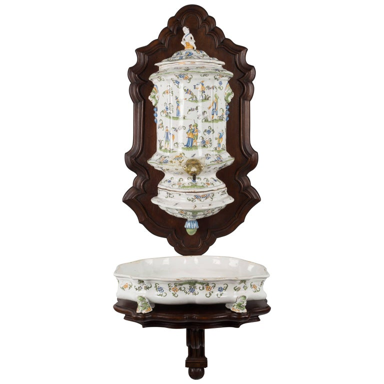 18th Century French Faience Lavabo