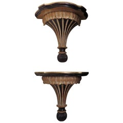 Pair of Carved Wall Brackets