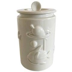 Royal Copenhagen Blanc de Chine Lidded Vase by Arno Malinowski #3287