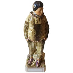 Royal Copenhagen Overglaze Figurine of Greenland Man No 12225