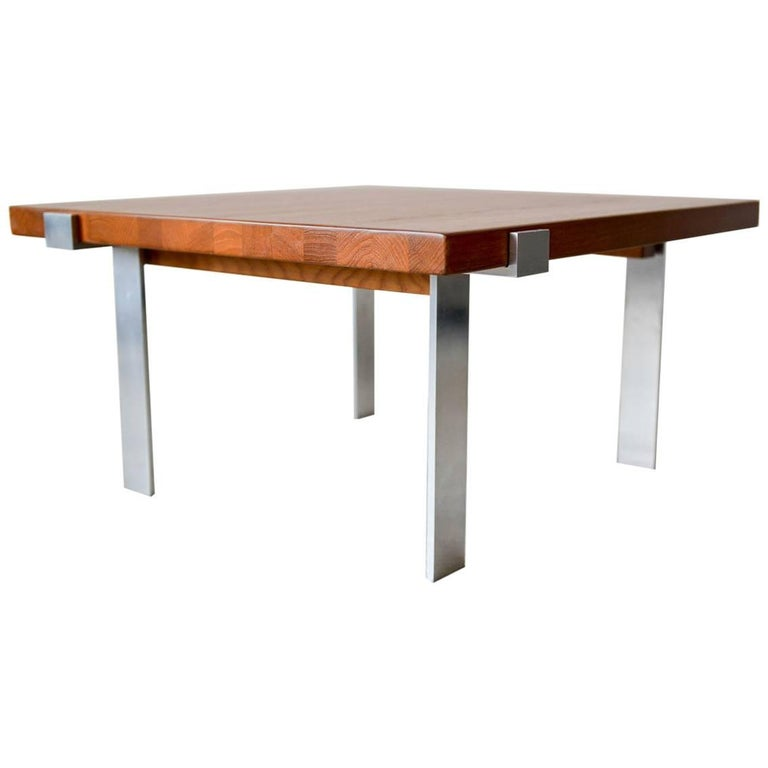 Teak and Steel Coffee Table by Mikael Laursen for Illum Wikkelso, circa 1960