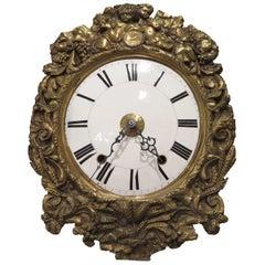 Repousse Clock Face with Quartz Clock