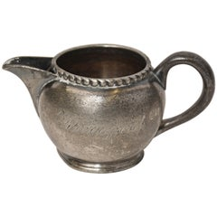 Small Vintage Pewter Creamer Stamped Pierrepont