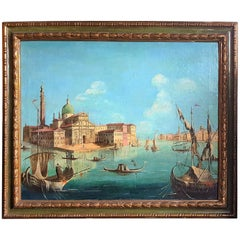 Venetian Oil Church of San Giorgio Maggiore on the Grand Canal in Venice