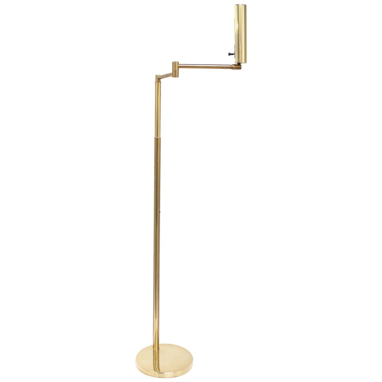 Extendable Brass Pharmacy Lamp by Koch & Lowy