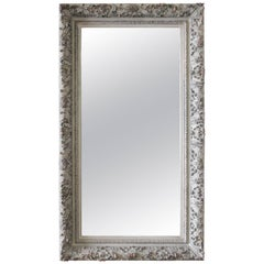Large Rectangular Painted Carved Style Mirror