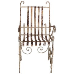 Antique Iron Garden Armchair