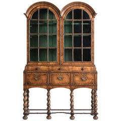 Walnut Display Cabinet, circa 1890