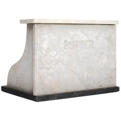 Marble and Slate Butter Counter, circa 1920