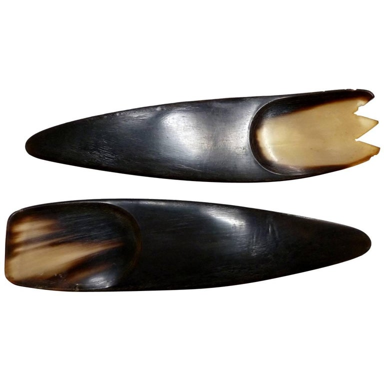 1960s Horn Serving Utensils by Carl Aubock For Sale