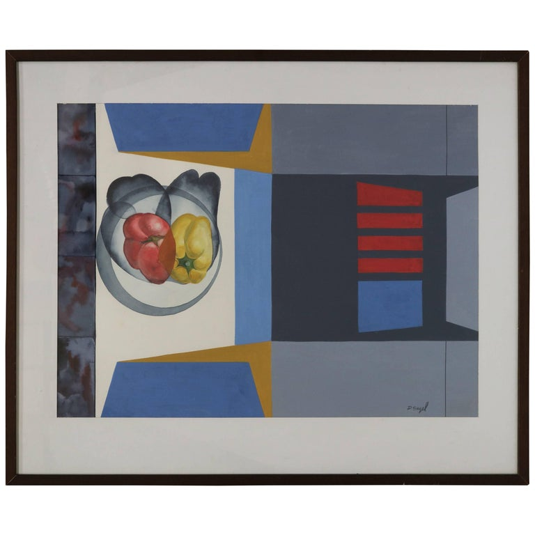 Abstract Still Life with Peppers by David Segel For Sale