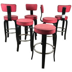 Midcentury Bentwood Bar or Counter Stools by National Store Fixture Co.
