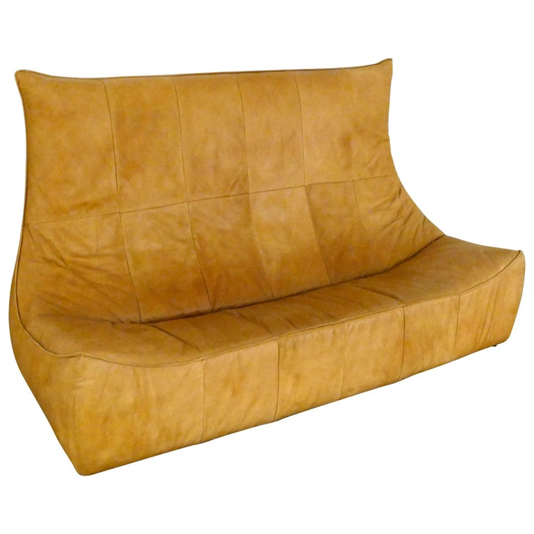 "Three-Seat ""The Rock"" Sofa by Gerard van den Berg Sofa For Sale"