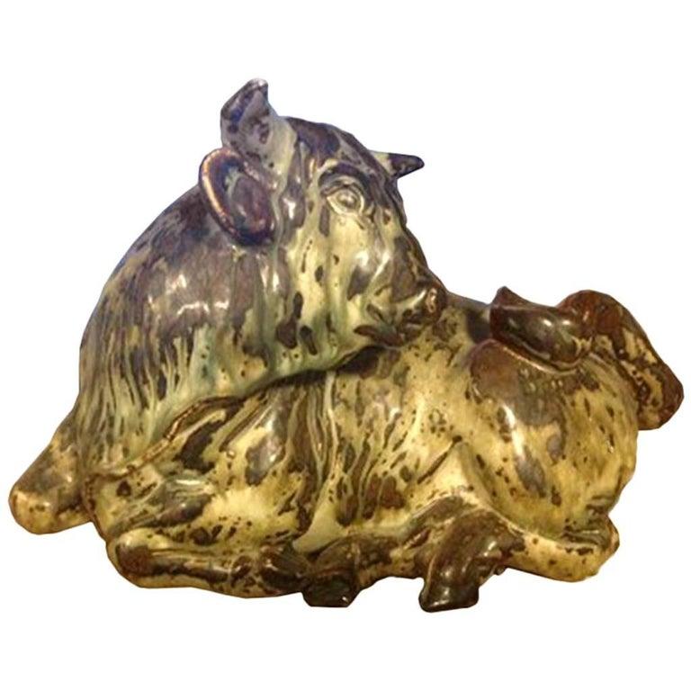 Royal Copenhagen Stoneware Bull Knud Kyhn #2955