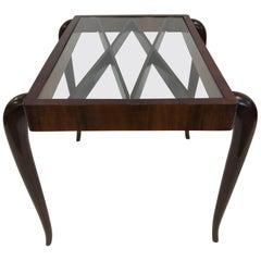 Italian Modern Mahogany Side Table Style of Paolo Buffa