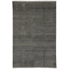 New Contemporary Transitional Gray Area Rug with Minimalist International Style