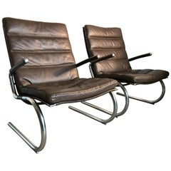 Jorgen Kastholm Leather Armchairs