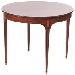 Quality Antique Mahogany Inlaid Round Centre Table