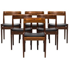 Grete Jalk Dining Chairs Model PJ-3-2 by P. Jeppesen in Denmark