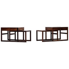 Pair of Rare Bedside Tables / Side Tables Produced in Denmark