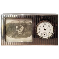 Early 20th Century American Silver Desk Clock